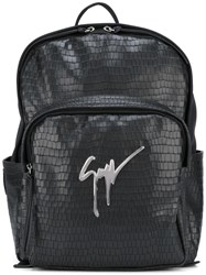 Giuseppe Zanotti Design Textured Backpack Black