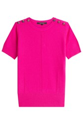 Tara Jarmon Merino Wool Knit Top Pink