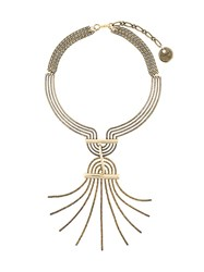 Lanvin Spiral Spread Necklace Metallic