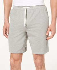 Club Room Men's Classic Fit Knit Drawstring 8.5 Shorts Created For Macy's Soft Grey Heather