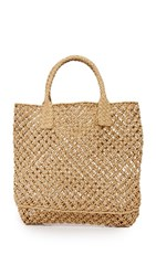 Hat Attack Macrame Small Tote Toast