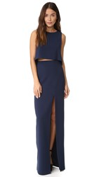 Black Halo Kacie 2 Piece Maxi Dress Pacific Blue