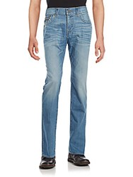 True Religion Ricky Relaxed Fit Straight Leg Jeans Dusty Blue