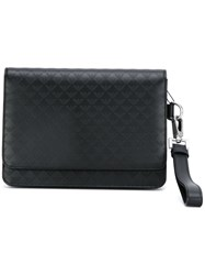 Emporio Armani Logo Embossed Clutch Black