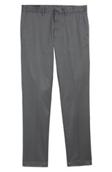 Nordstrom 'S Men's Shop Slim Fit Non Iron Chinos Grey Gate