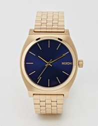 Nixon Time Teller Gold Stainless Steel Watch