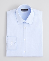 The Men's Store At Bloomingdale's Textured Micro Grid Check Dress Shirt Regular Fit