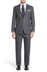 Men's Big And Tall Hart Schaffner Marx Classic Fit Solid Wool Suit Grey