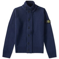 Stone Island Button Up Cardigan Blue