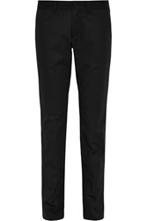 Tomas Maier Cotton Gabardine Tapered Pants Black