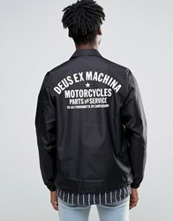 Deus Ex Machina Coach Jacket With Camperdown Back Print Black