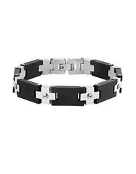 Lord And Taylor Two Tone Screw Design Bracelet Silver