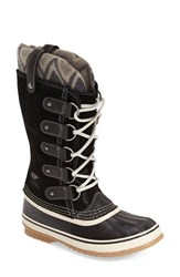 Women's Sorel 'Joan Of Arctic Knit Ii' Waterproof Boot Black