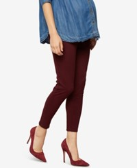 A Pea In The Pod Maternity Skinny Pants Burgundy