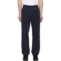 Blue Blue Japan Navy Corduroy One Tuck Baggy Trousers