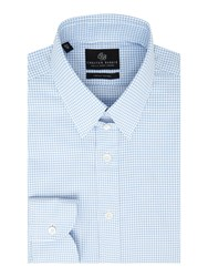 Chester Barrie L S Contemp Thomas Textured Gingham S C Sky