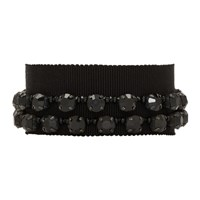 Ann Demeulemeester Black Stone Glass And Beads Bracelet