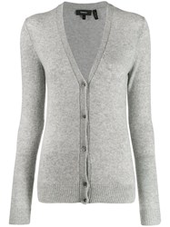 Theory Long Sleeve Cardigan Grey