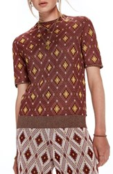 Scotch And Soda Jacquard Mock Neck Top Color 17 Combo A