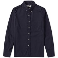 Remi Relief Button Down Flannel Shirt Blue