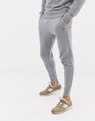 Lyle And Scott Skinny Sweat Jogger In Grey Mid Grey Marl