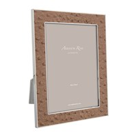 Addison Ross Nutmeg Faux Ostrich Photo Frame Brown