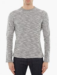 Officine Generale Grey Melange Cotton Sweatshirt