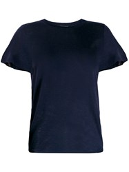 Vince Fitted Knit Top Blue