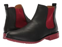 Massimo Matteo Chelsea Pt Boot Black Red Pull On Boots