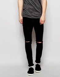 Pull And Bear Pullandbear Super Skinny Fit Jeans In Black