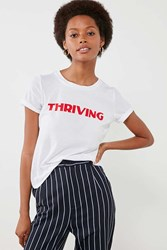 Project Social T Thriving Tee White