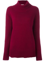 Anddaughter Turtleneck Ribbed Jumper Pink Purple