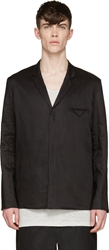 Siki Im Black Linen Unstructured Blazer