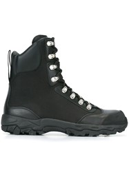 Marcelo Burlon County Of Milan Hiking Combat Boots Black