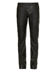 Saint Laurent Skinny Leg Faux Leather Trousers
