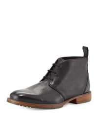 Ben Sherman Squire Leather Chukka Boot Black