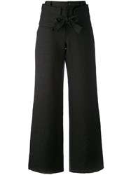Societe Anonyme 'Smoking Palace' Trousers Women Linen Flax 44 Black