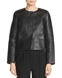 Maje Bibiane Bonded Leather Jacket Black