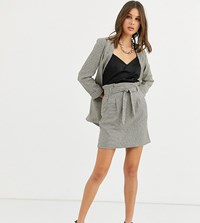 New Look Tall Check Skirt In Black Pattern
