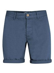 Topman Blue Longer Length Chino Shorts