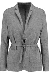 Majestic Knitted Cotton Cashmere And Silk Blend Jacket Gray
