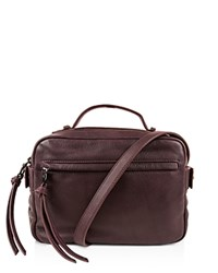 Kooba Blythe Top Handle Satchel Dark Berry
