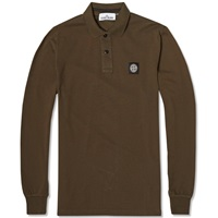 Stone Island Long Sleeve Regular Fit Polo Military Green