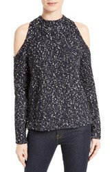 Rebecca Taylor Women's Cold Shoulder Boucle Pullover