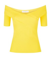 Sandro Galina Off The Shoulder Top Female Yellow