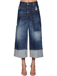 Dsquared Jinny Cropped Wide Leg Denim Jeans
