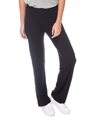 Bobeau Solid Pull On Casual Pants Black