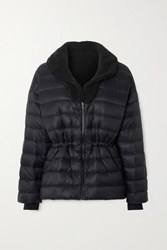Ienki Ienki Polar Reversible Quilted Down And Shearling Ski Jacket Black