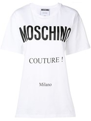 Moschino Logo Patch T Shirt White