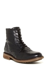 Rogue William Lace Up Wingtip Boot Black
